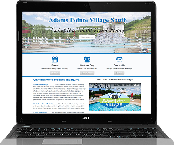Acri Community Realty HOA Websites
